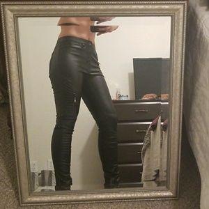 Black Leather Pants (faux)